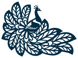 Peacock Silhouette Sticker