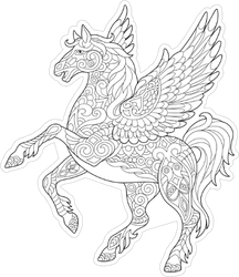 Pegasus Line Art Sticker