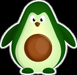Penguin Avocado Sticker