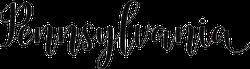 Pennsylvania Calligraphy Sticker