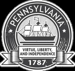 Pennsylvania Grunge Stamp Sticker