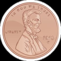 Penny Sticker