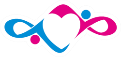 People Care Cancer, Love Infinity Ribbon Sticker