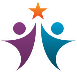 People Holding Star Logo Sticker
