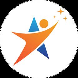 Person and Star Sticker