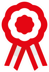 Peruvian Flag Badge With Ribbons Sticker