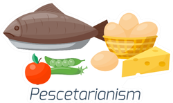 Pescetarianism Food Sticker