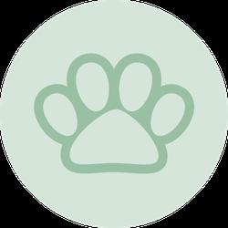 Pet Paw Print Sticker