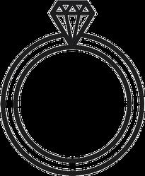 Petite Diamond Ring Sticker