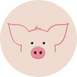 Pig Icon Sticker