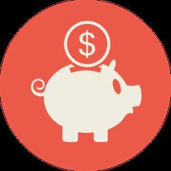 Piggy Bank With Coin Sticker