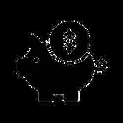 Piggy Bank With Coin Symbol Sticker