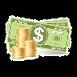 Pile of American Money Sticker