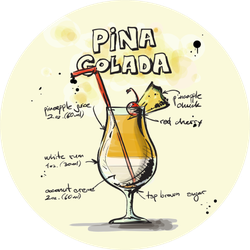 Pina Colada Sticker