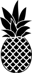 Pineapple Patterned Icon Sticker