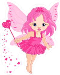 Pink Baby Fairy Sticker