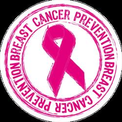 Pink Breast Cancer Prevention Stamp Sticker