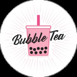 Pink Bubble Tea Tapioca Boba Sticker