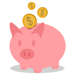 Pink Classic Piggy Bank Sticker