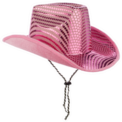 Pink Glittery Cowgirl Hat Sticker