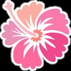 Pink Hibiscus Flower Icon Sticker