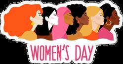 Pink International Women`s Day Sticker