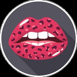 Pink Leopard Lips Sticker