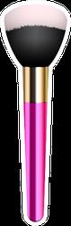 Pink Make-up Brush Sticker