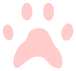 Pink Paw Print - Animal Illustration Sticker