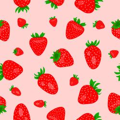 Pink Strawberry Pattern Sticker