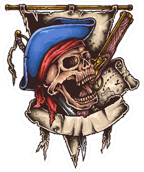 Pirate Banner Sticker