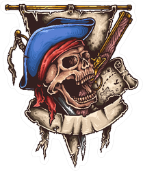Pirate Banner Sticker
