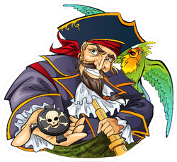 Pirate Character Sticker