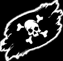 Pirate Flag Grunge Illustration Sticker