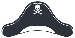 Pirate Hat Icon Sticker