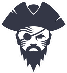 Pirate Head Icon Sticker