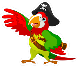 Pirate Parrot Sticker