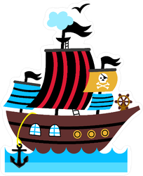 Pirate Ship Childrens Drawing Sticker