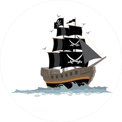 Pirate Ship on the Waves Sticker
