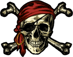 Pirate Skull And Crossbones Bandana Sticker