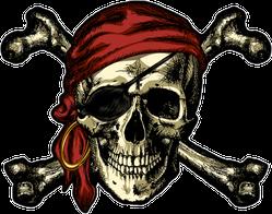 Pirate Skull And Crossbones Bandana Sticker