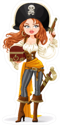 Pirate Woman Sticker