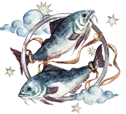 Pisces Watercolor Sticker