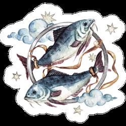 Pisces Watercolor Sticker