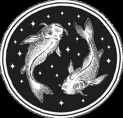 Pisces Zodiac Icon Sticker