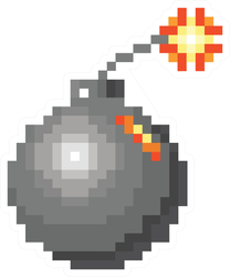 Pixel Art Bomb Sticker