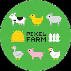 Pixel Art Farm Animals Chicken Sticker