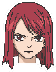 Pixel Art Frustrated Anime Girl Sticker