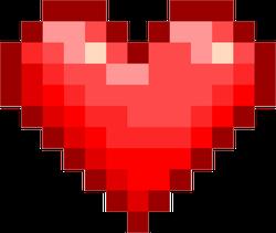 Pixel Art Glossy Heart Sticker