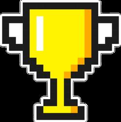 Pixel Art Golden Trophy Sticker
